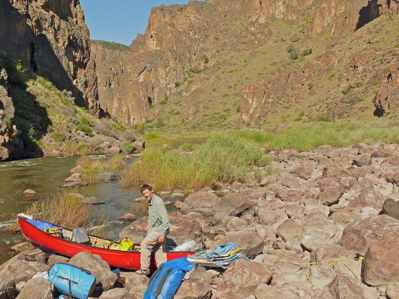 Whitewater canoeing on the South Fork of the Owyhee River