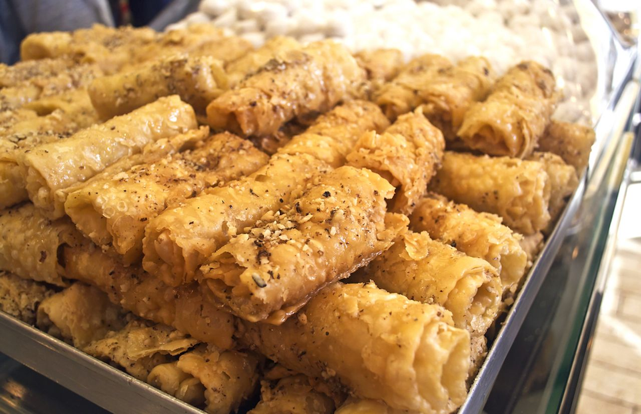 diples or thiples traditional greek Christmas dessert
