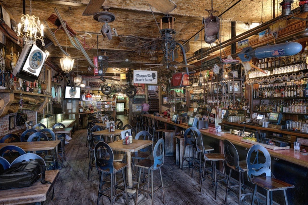 no name saloon rustic, eclectic interior in Park City