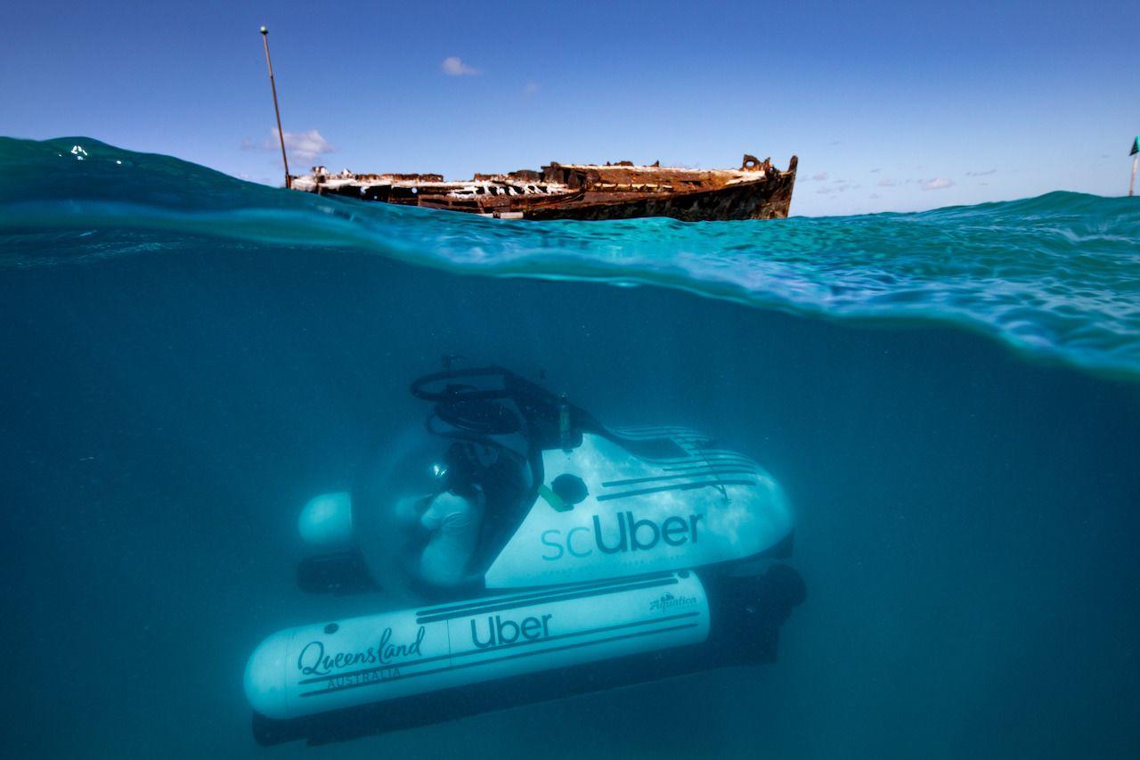 scUber submarine in Australia