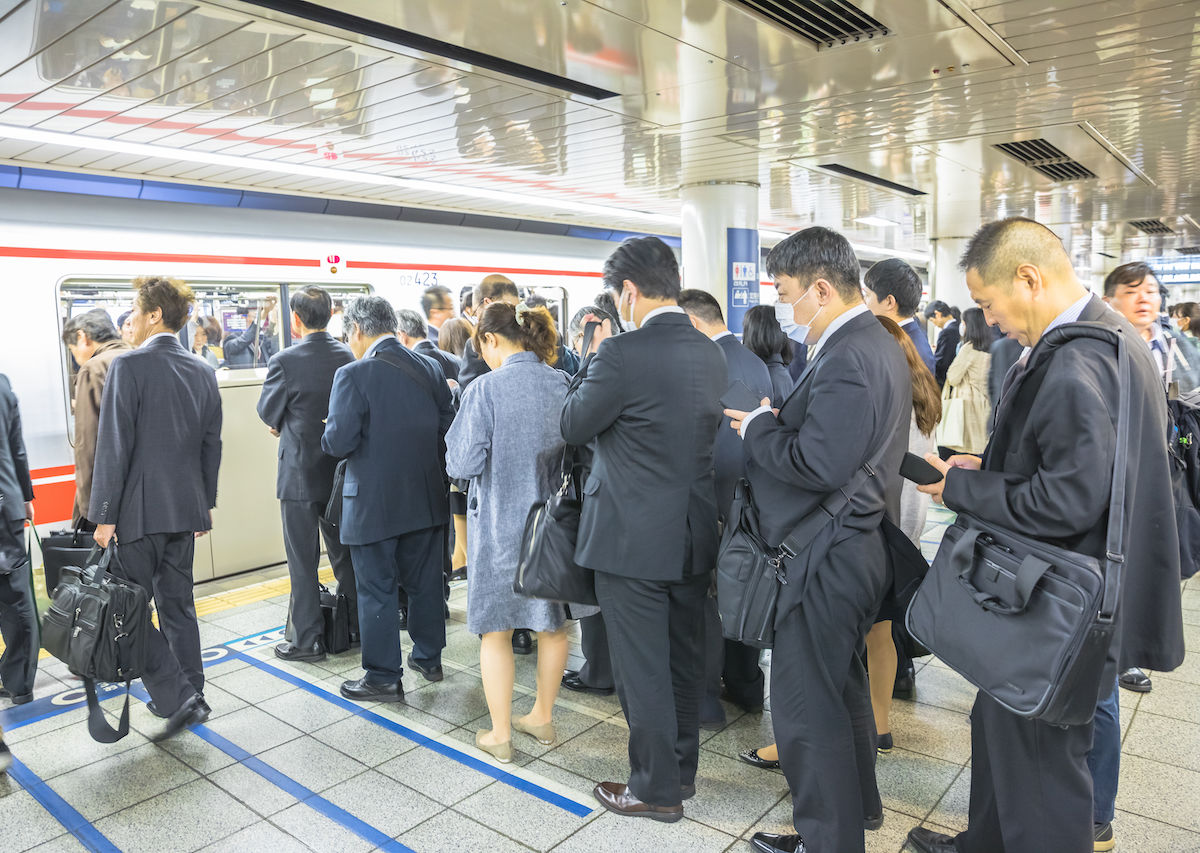 Tokyo commuter sells seat on packed subway car, gets busted