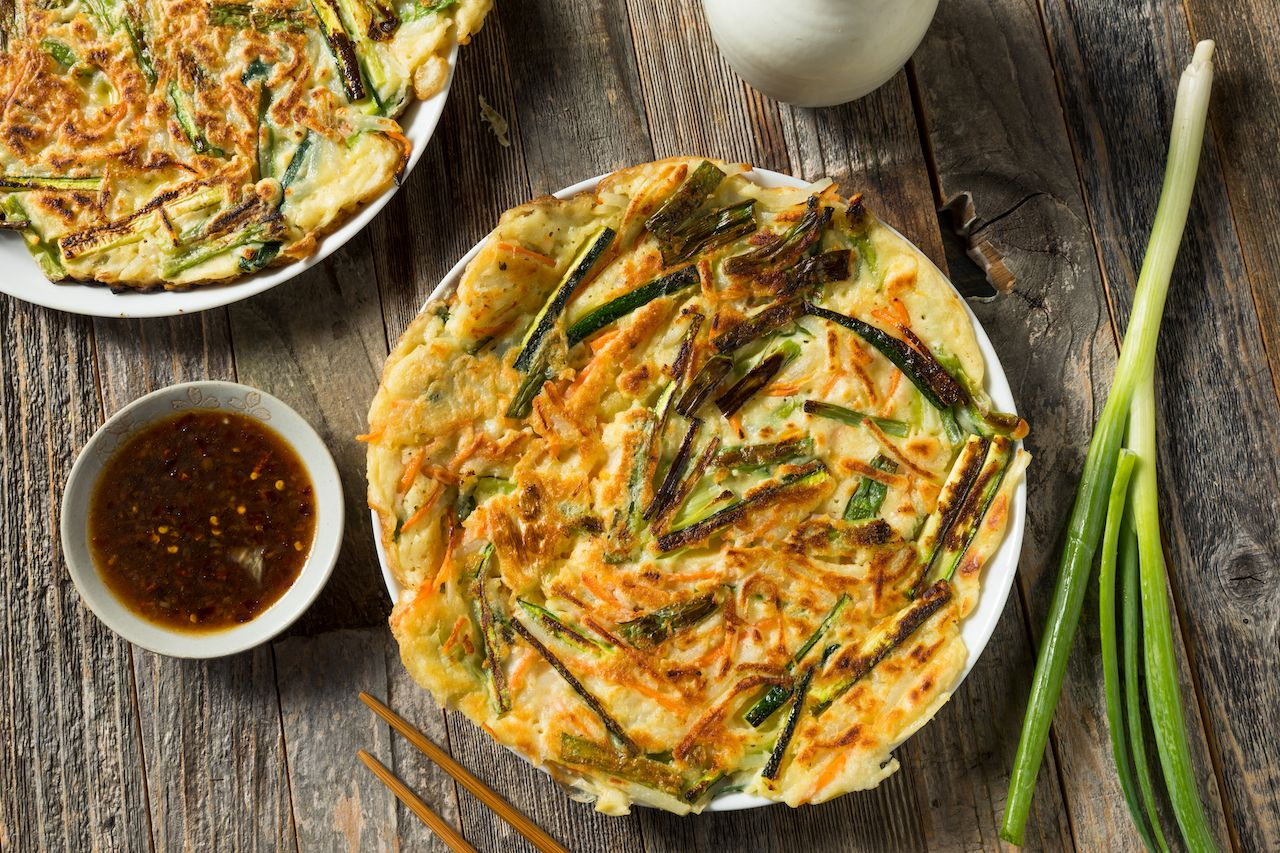 Homemade Korean pajeon
