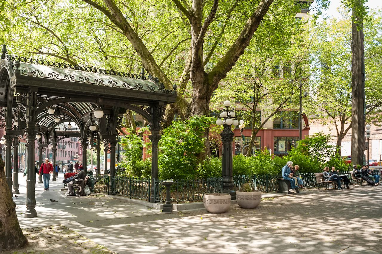 Iron Pergola on Pioneer Square