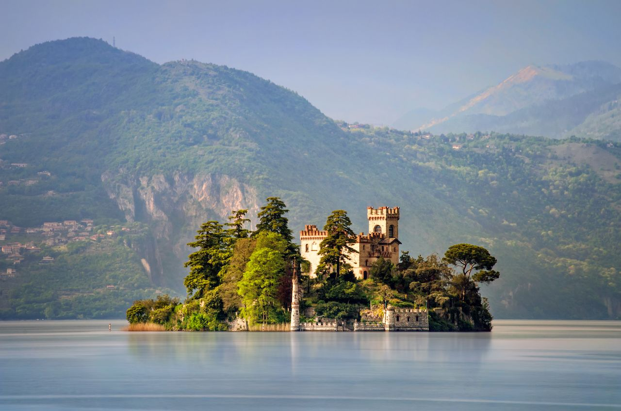 Isola di Loreto on Iseo Lake