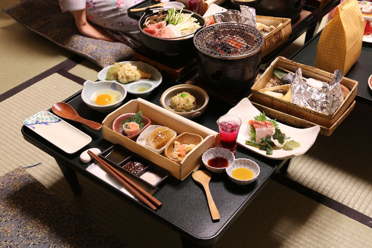 Japanese traditional style set menu