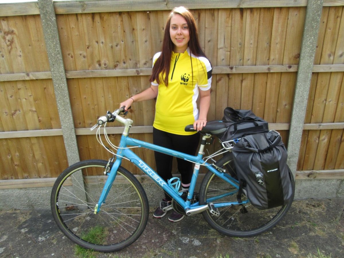 Woman bikes from London to Istanbul to raise money for wildlife