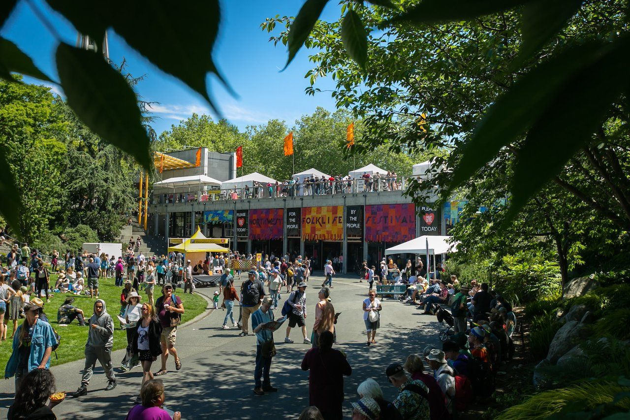 Northwest Folklife festival in Seattle