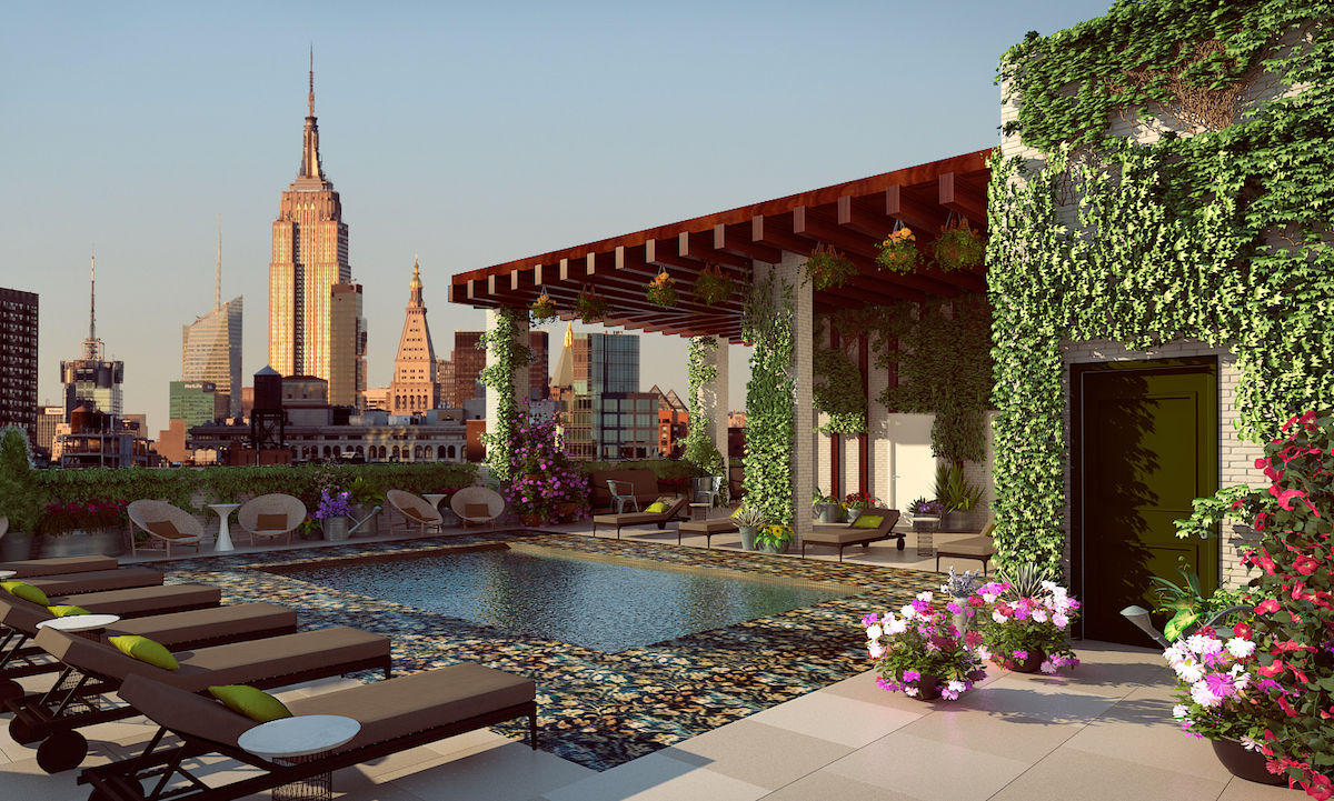 This luxe rooftop pool and garden will stand 430 feet high in Manhattan