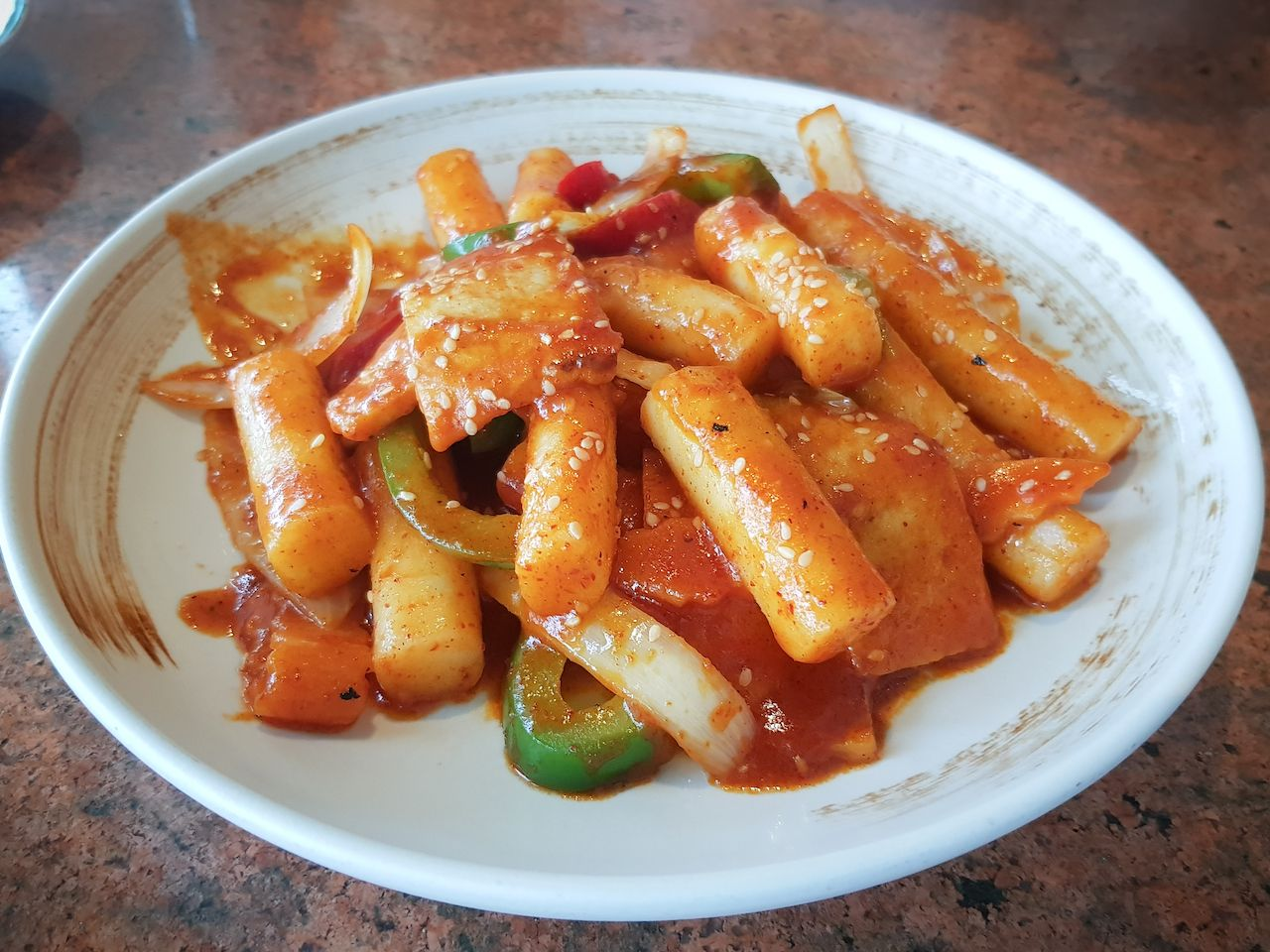 Spicy Korean food tteokbokki