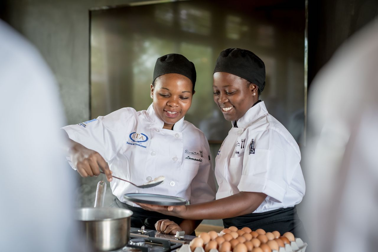 Students at the Singita Community Culinary School