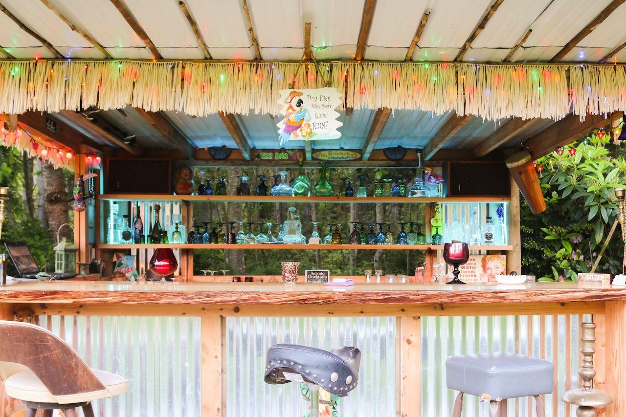 Tiki bar in Whidbey Island, Washington