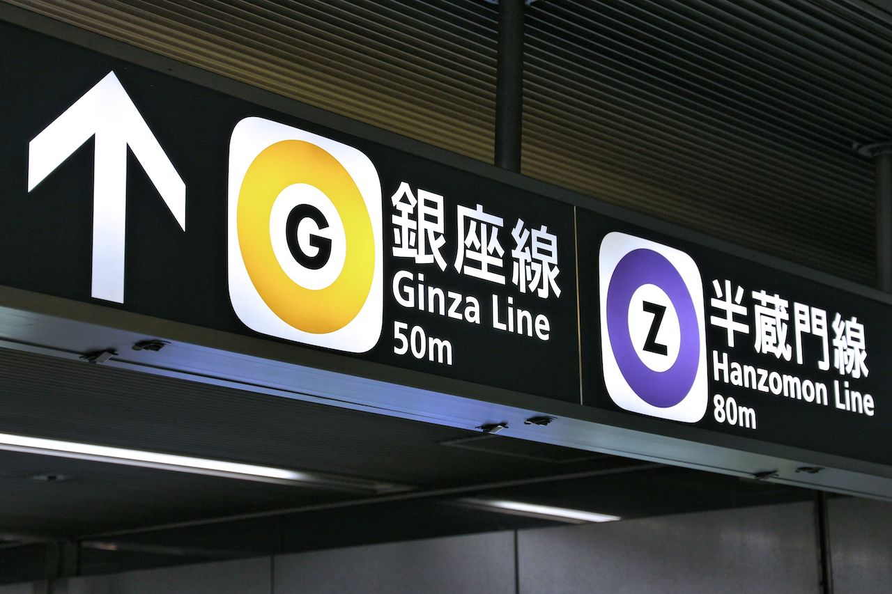 Tokyo train signs