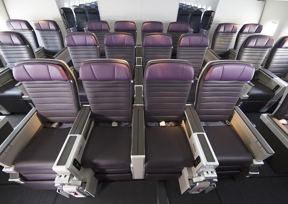 The best premium economy service on United, American, Delta