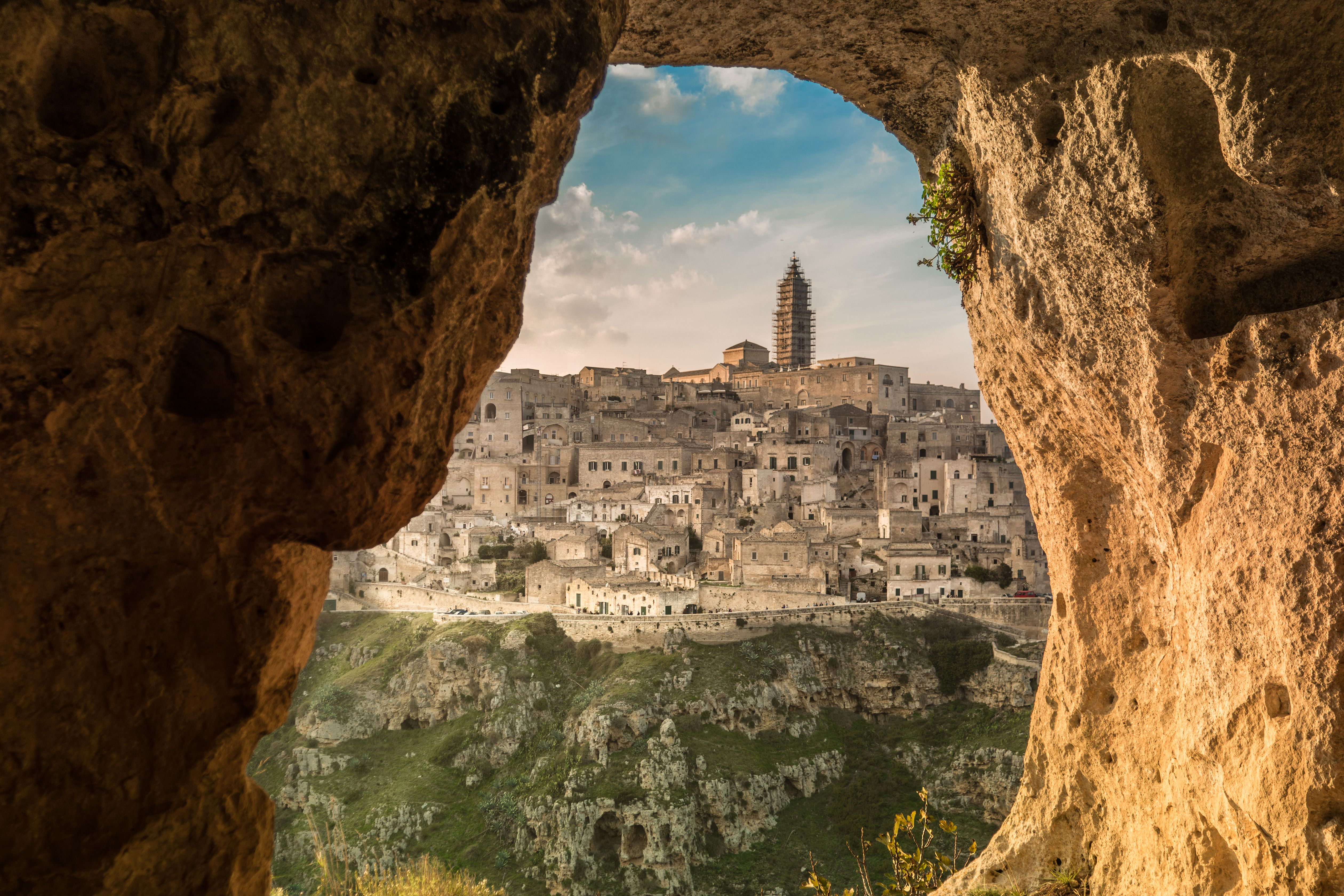 View from a cave (sassi) of Matera