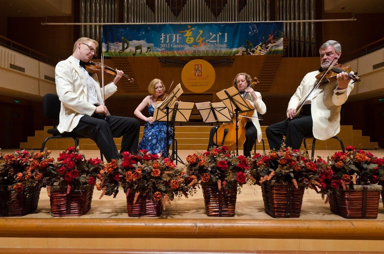 American String Quartet in Beijing Concert Hall