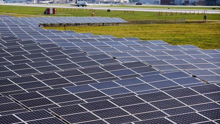 This airport is the first in the US to run fully on solar energy