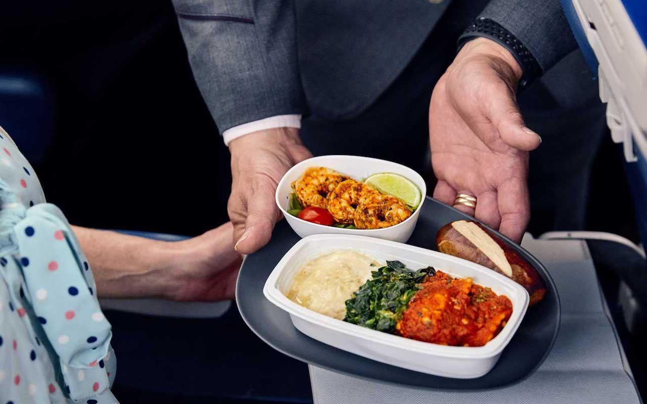 Detla Airline better meals in economy class