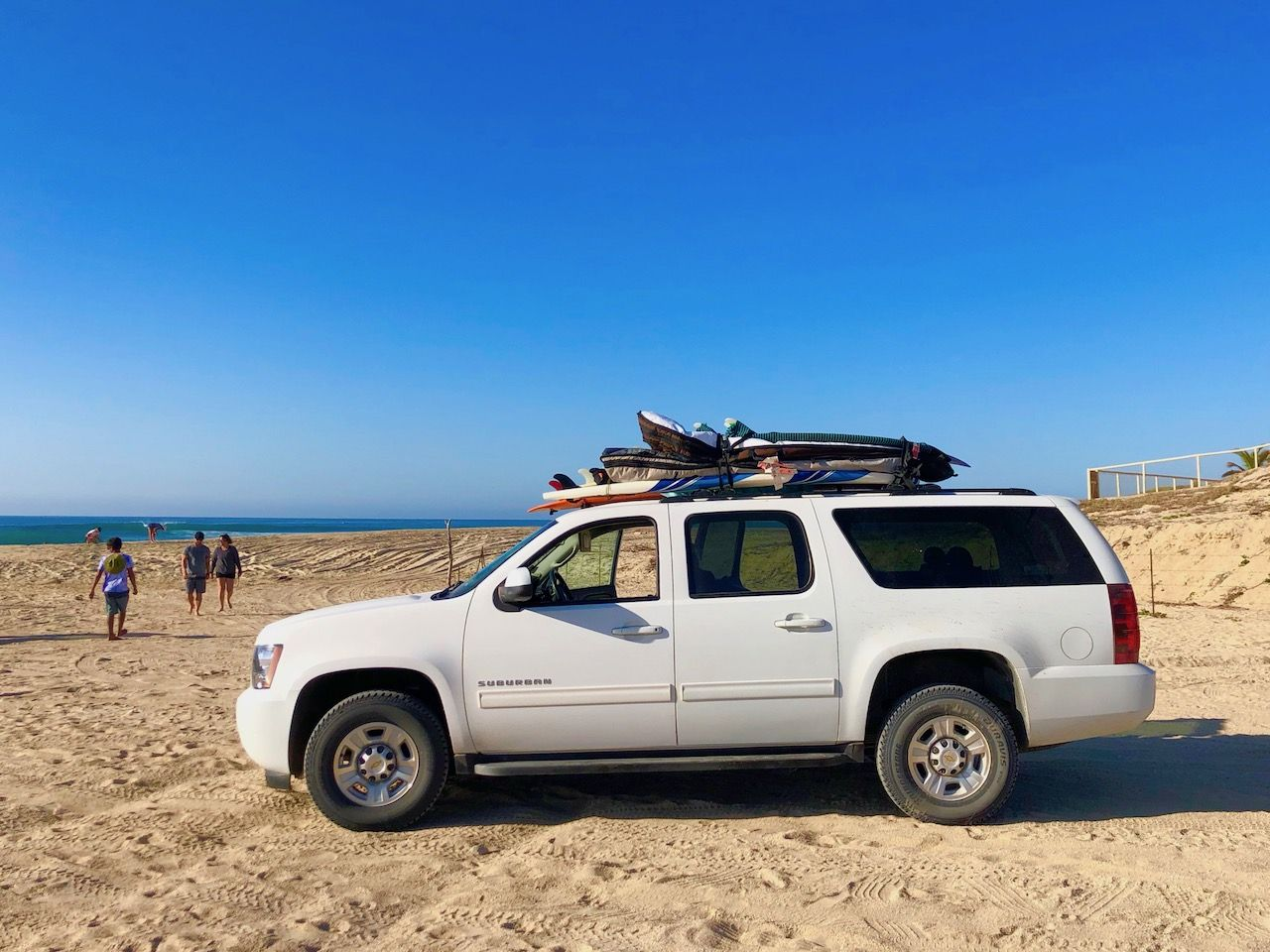 East Cape SUV with boards