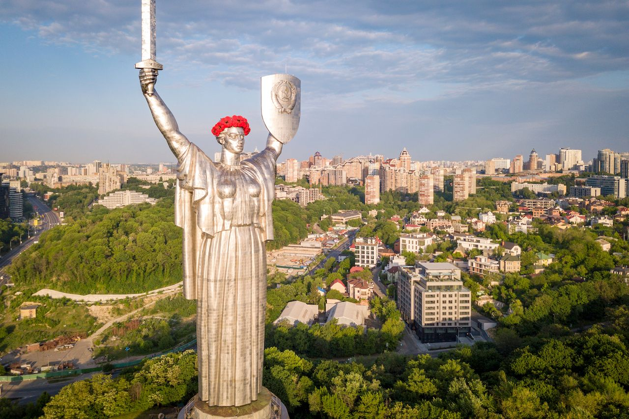 Mother Motherland statue in Kiev
