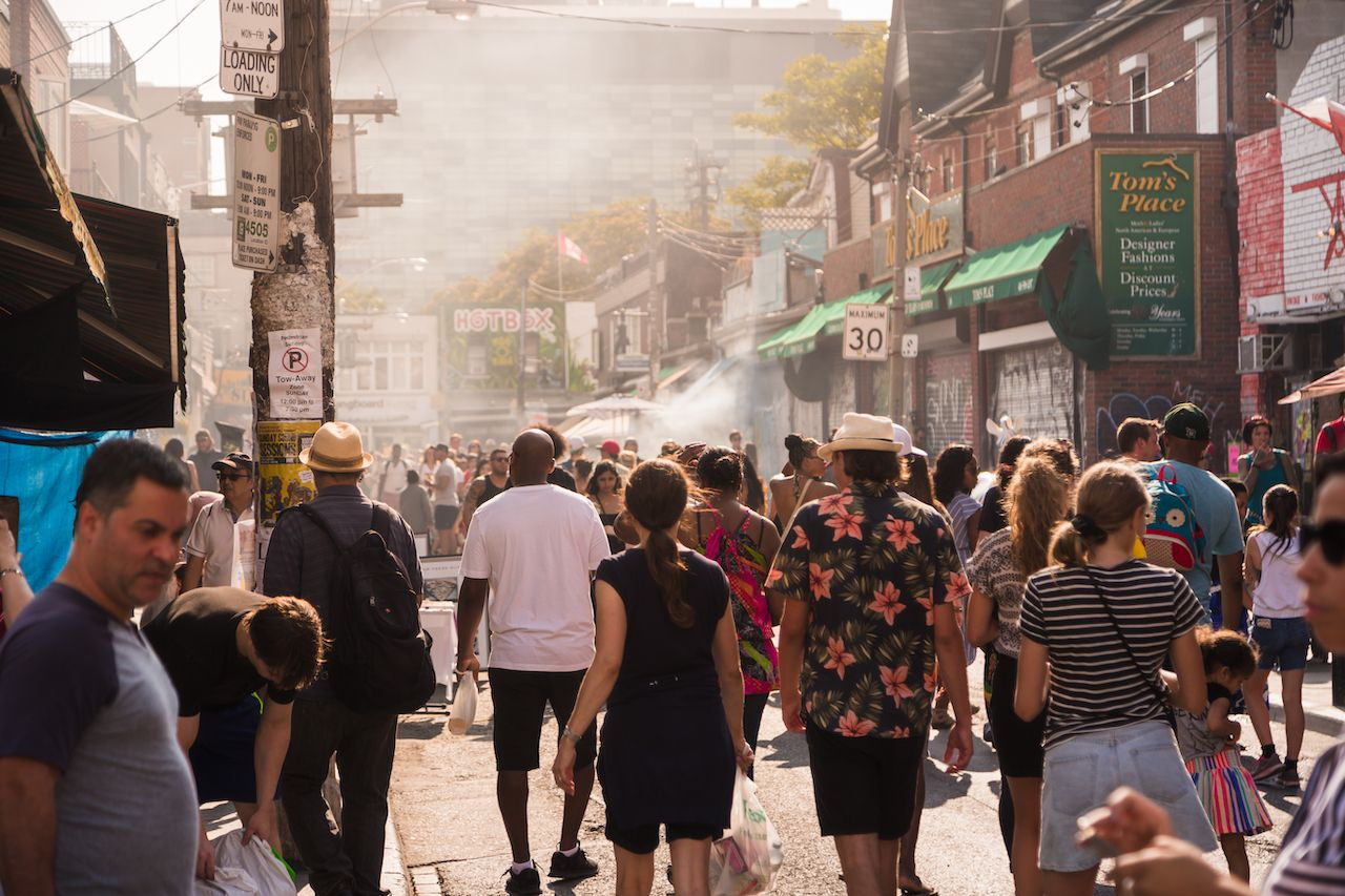 People at Kensington Market, Toronto