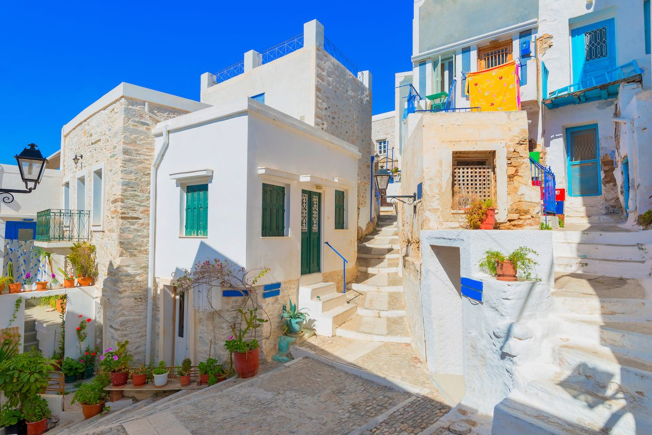 Street view in Syros