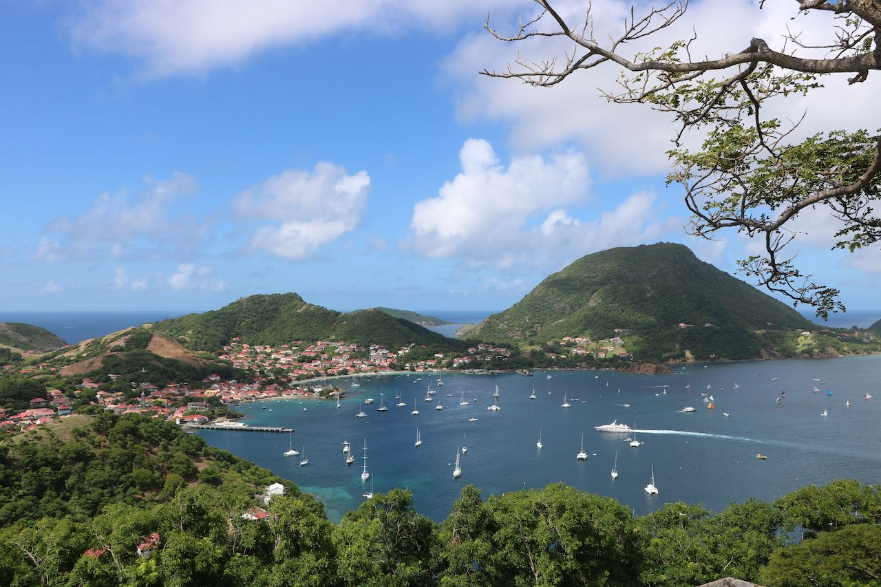 The Bay of Saintes, in Guadeloupe