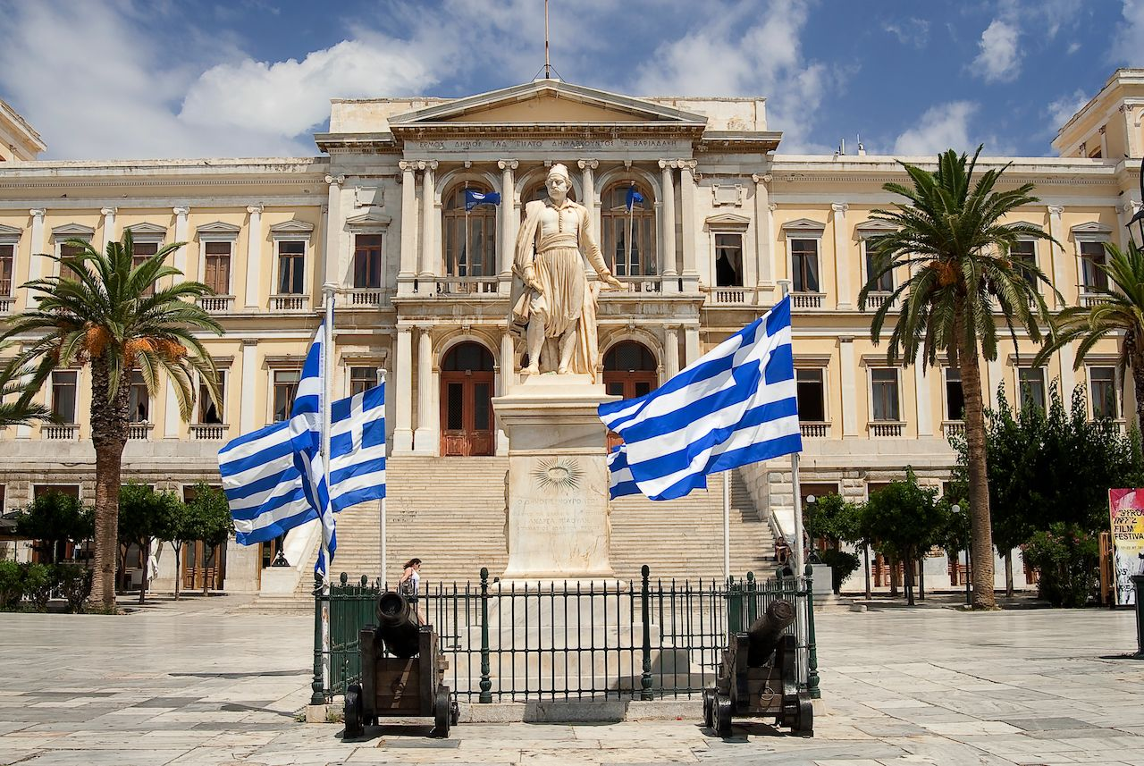 Town hall at the capital of Syros island