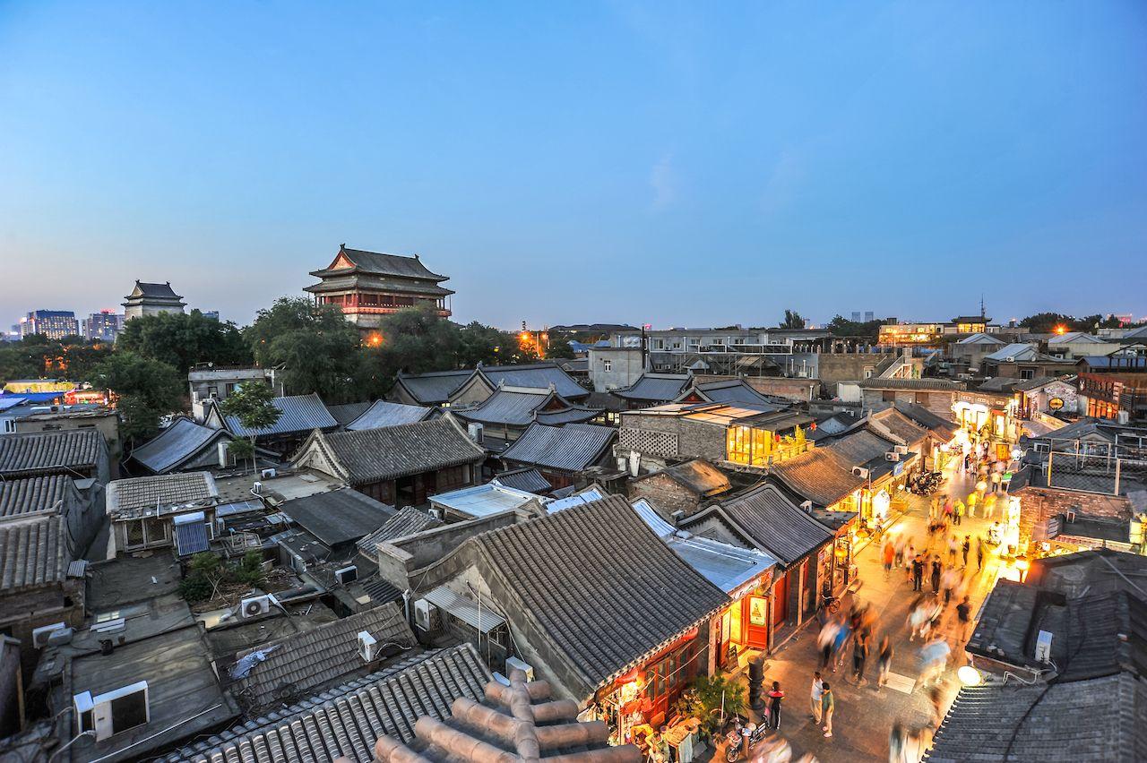 landscape of hutong, beijing