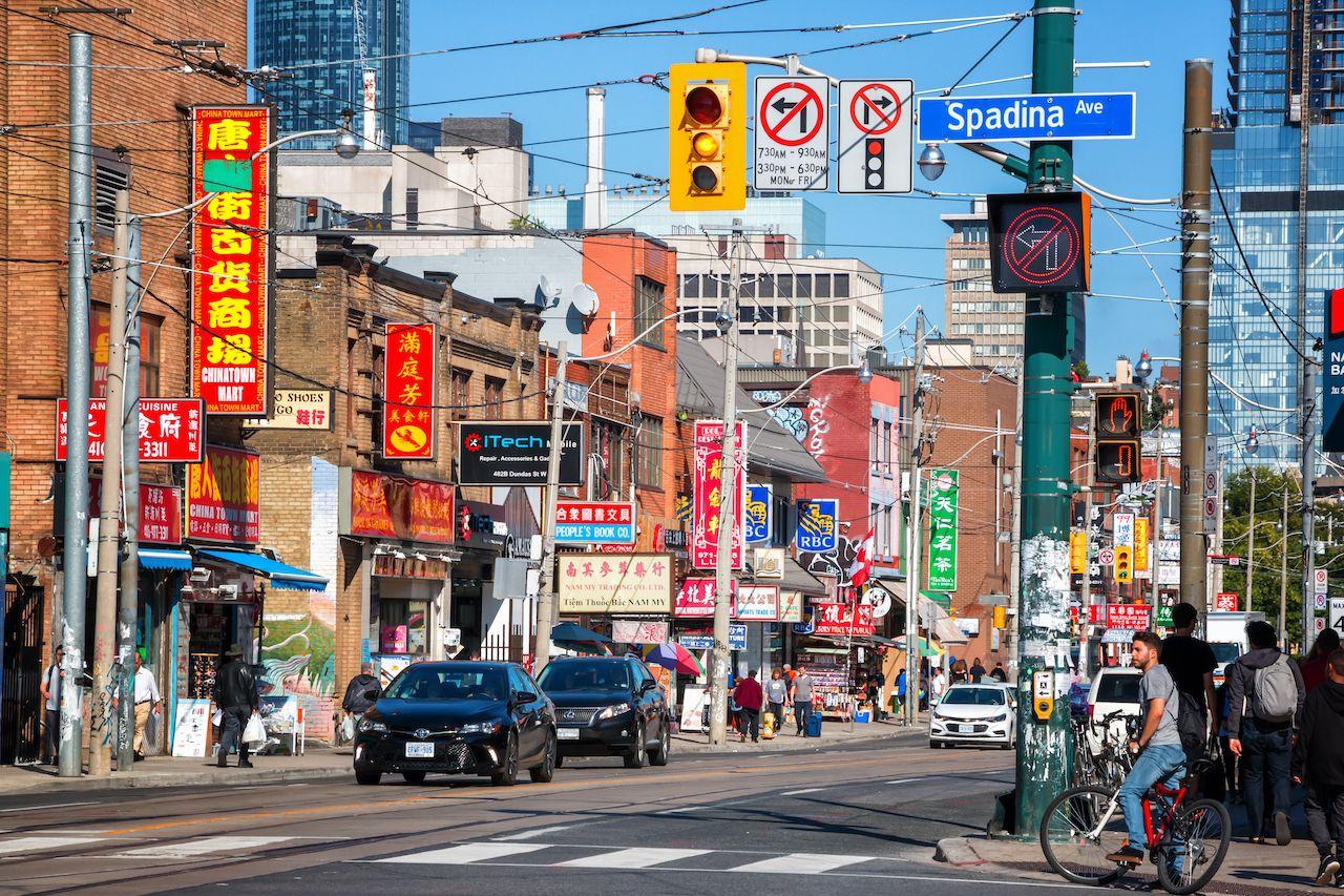Dundas Street at Spadina in Toronto, Canada
