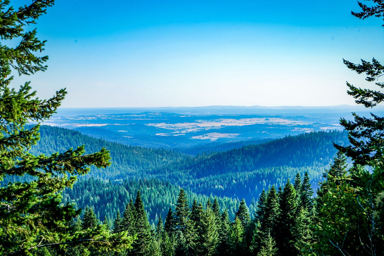 view from Mount Spokane in Spokane Washington