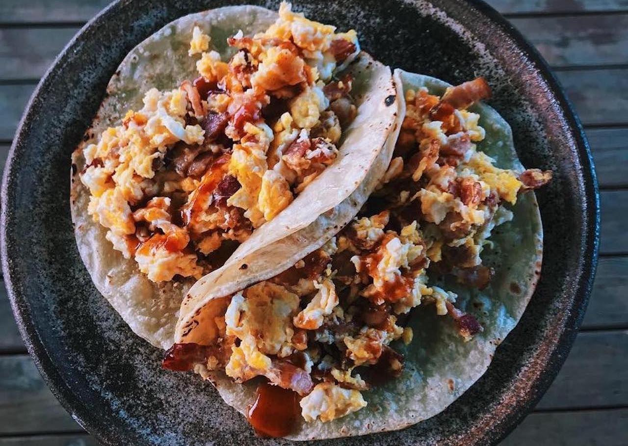 Carmelo breakfast tacos