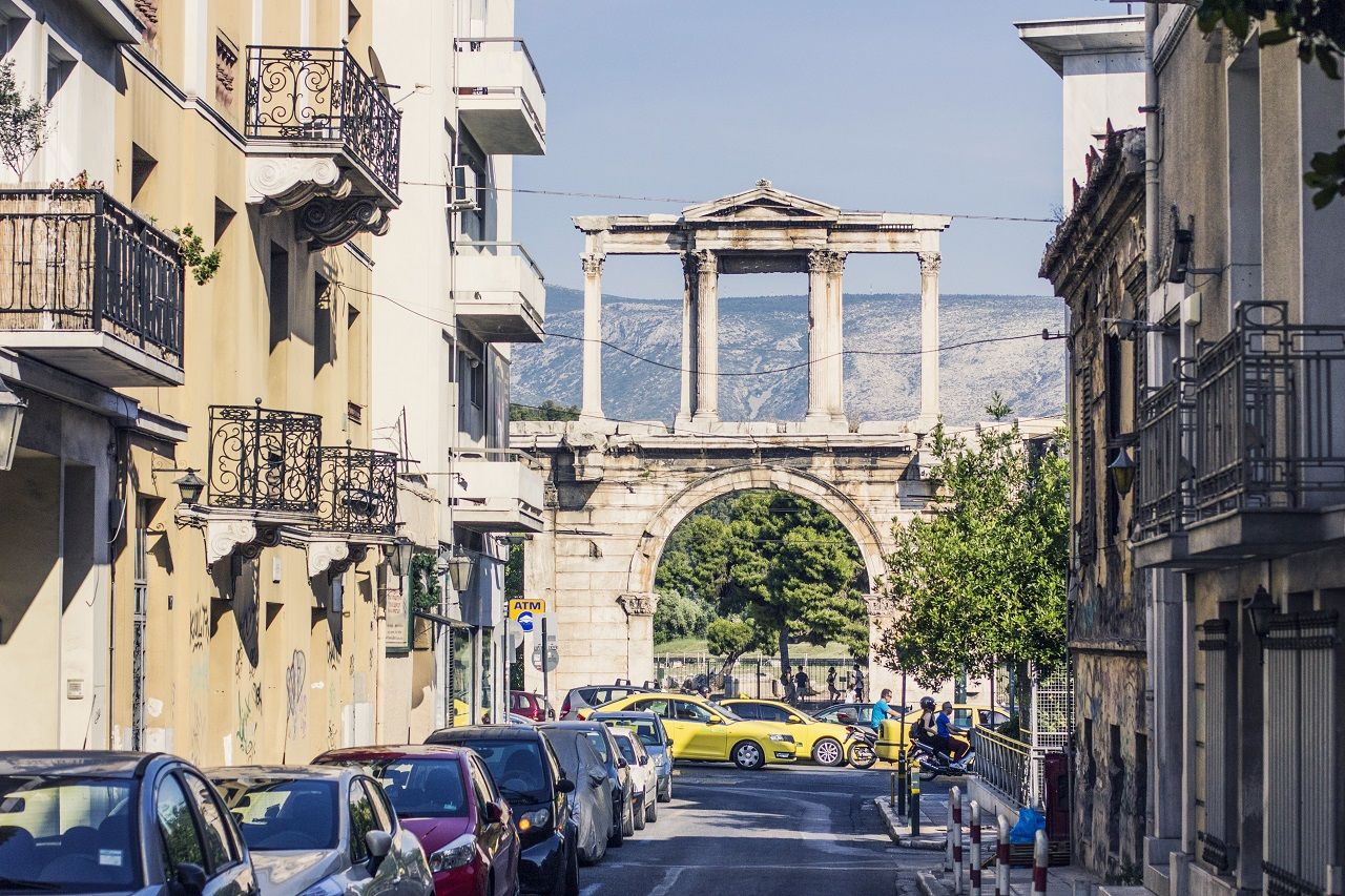 Central street in Athens