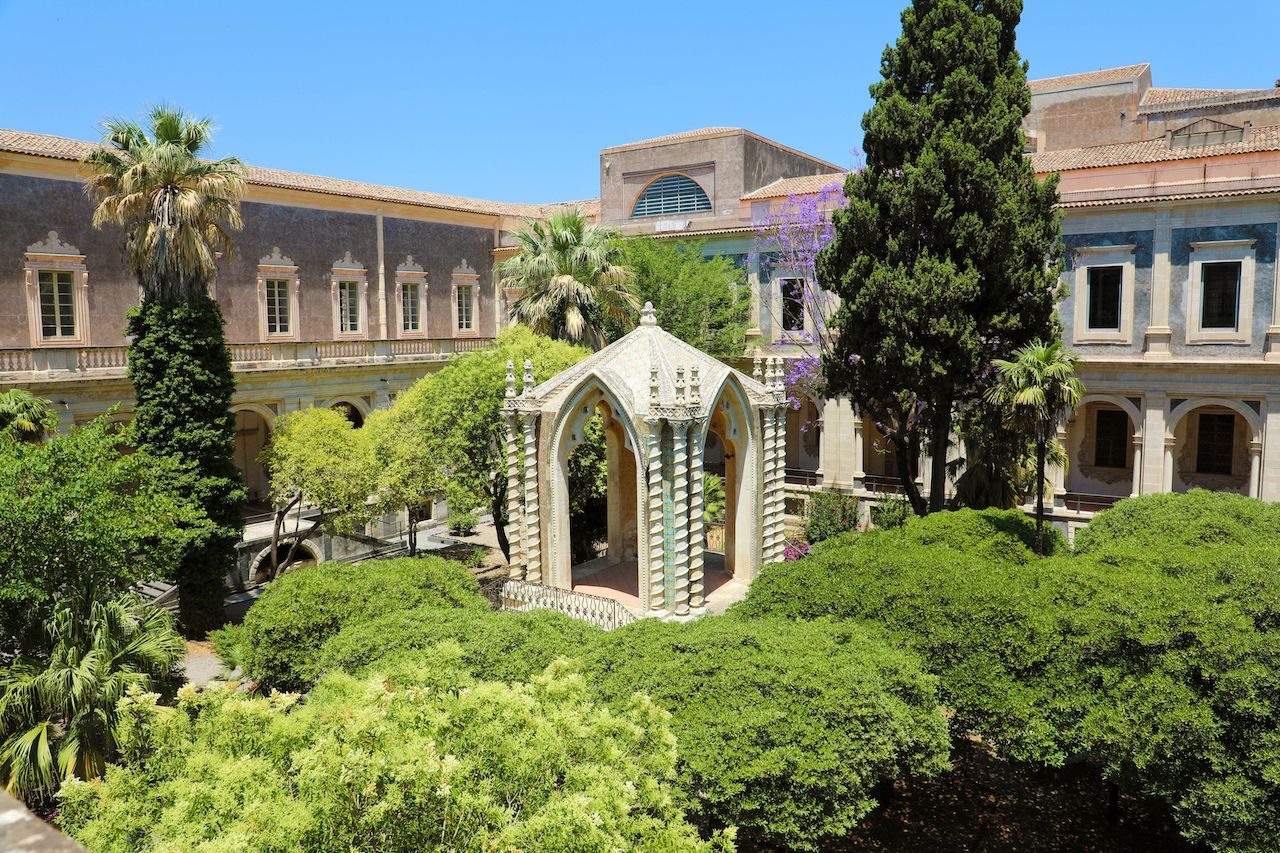 Cloister of the Benedictine Monastery of San Nicolo l'Arena in Catania