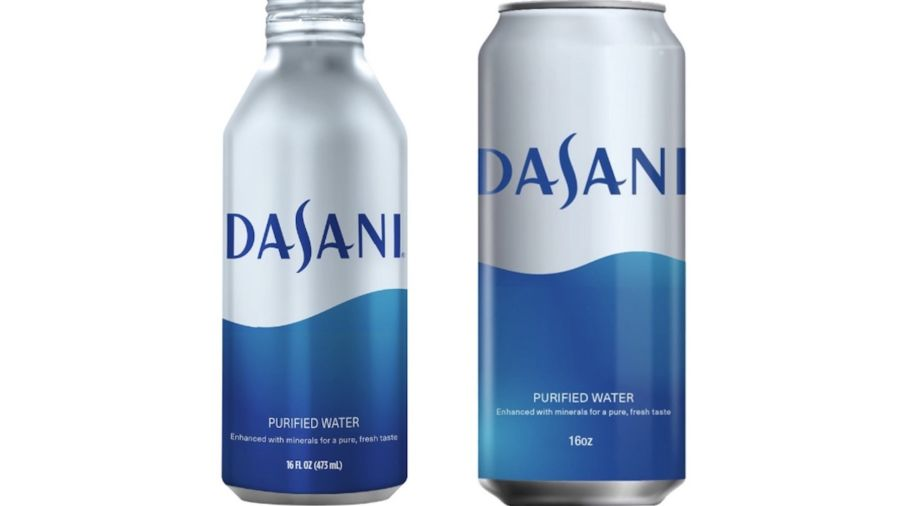 Dasani will soon switch from plastic water bottles to cans