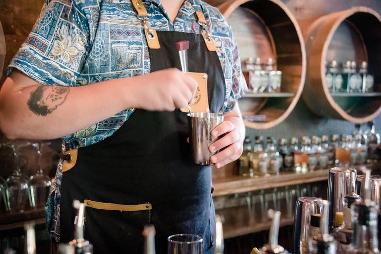 Drink being made
