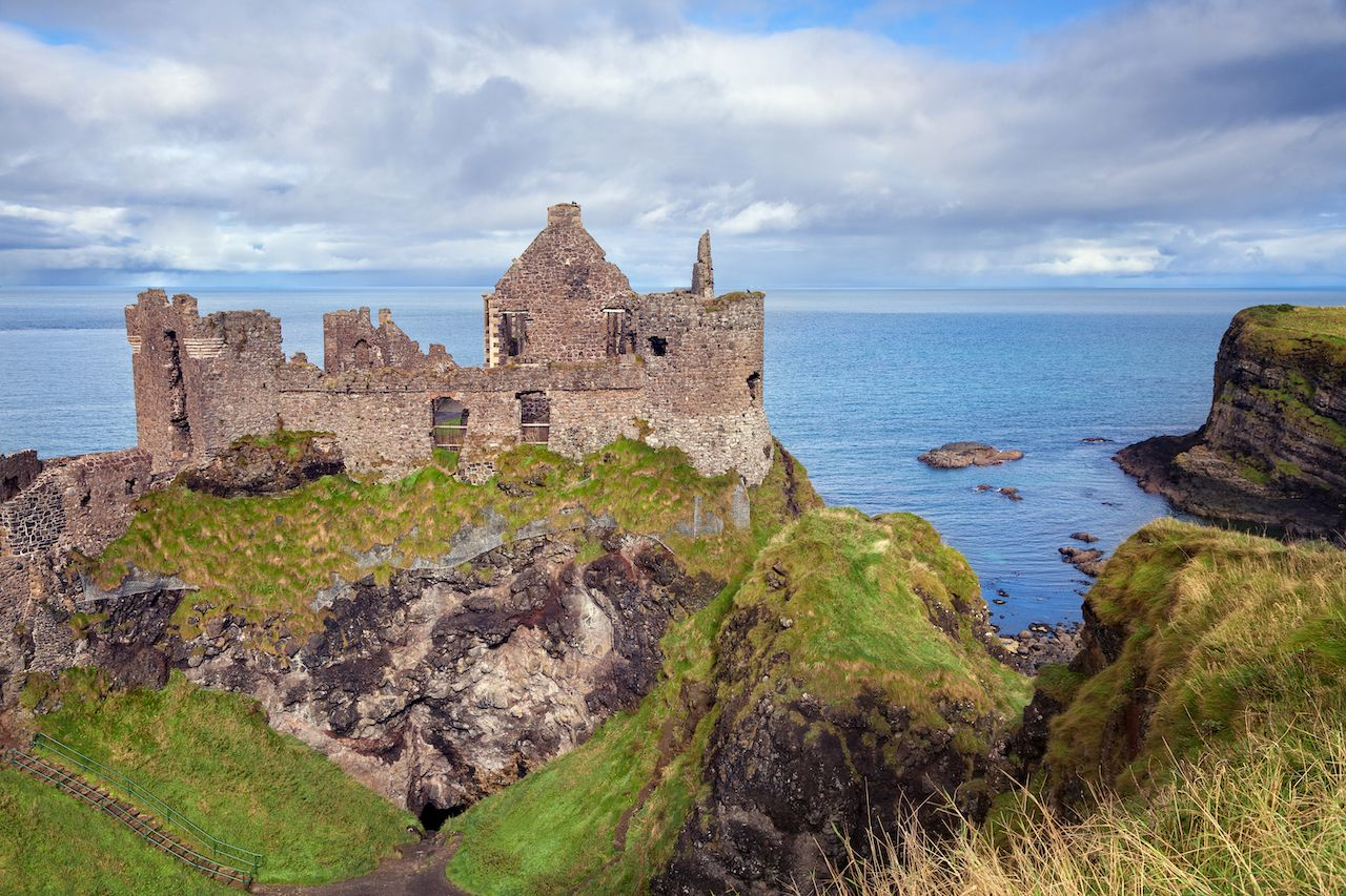 Dunluce castle ruins, Northern Ireland