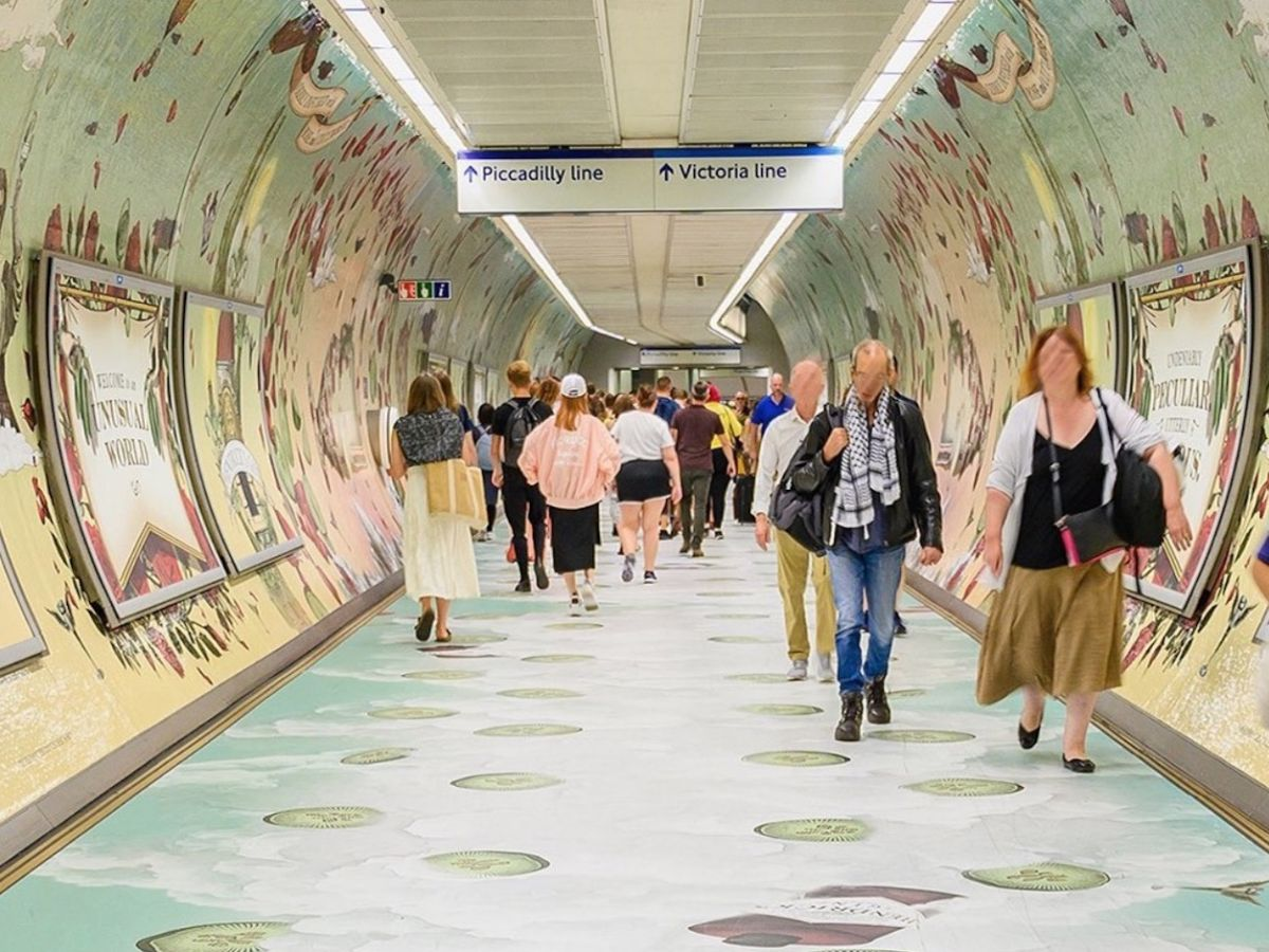 This gin-scented tunnel in London will make your daily commute a lot more exciting
