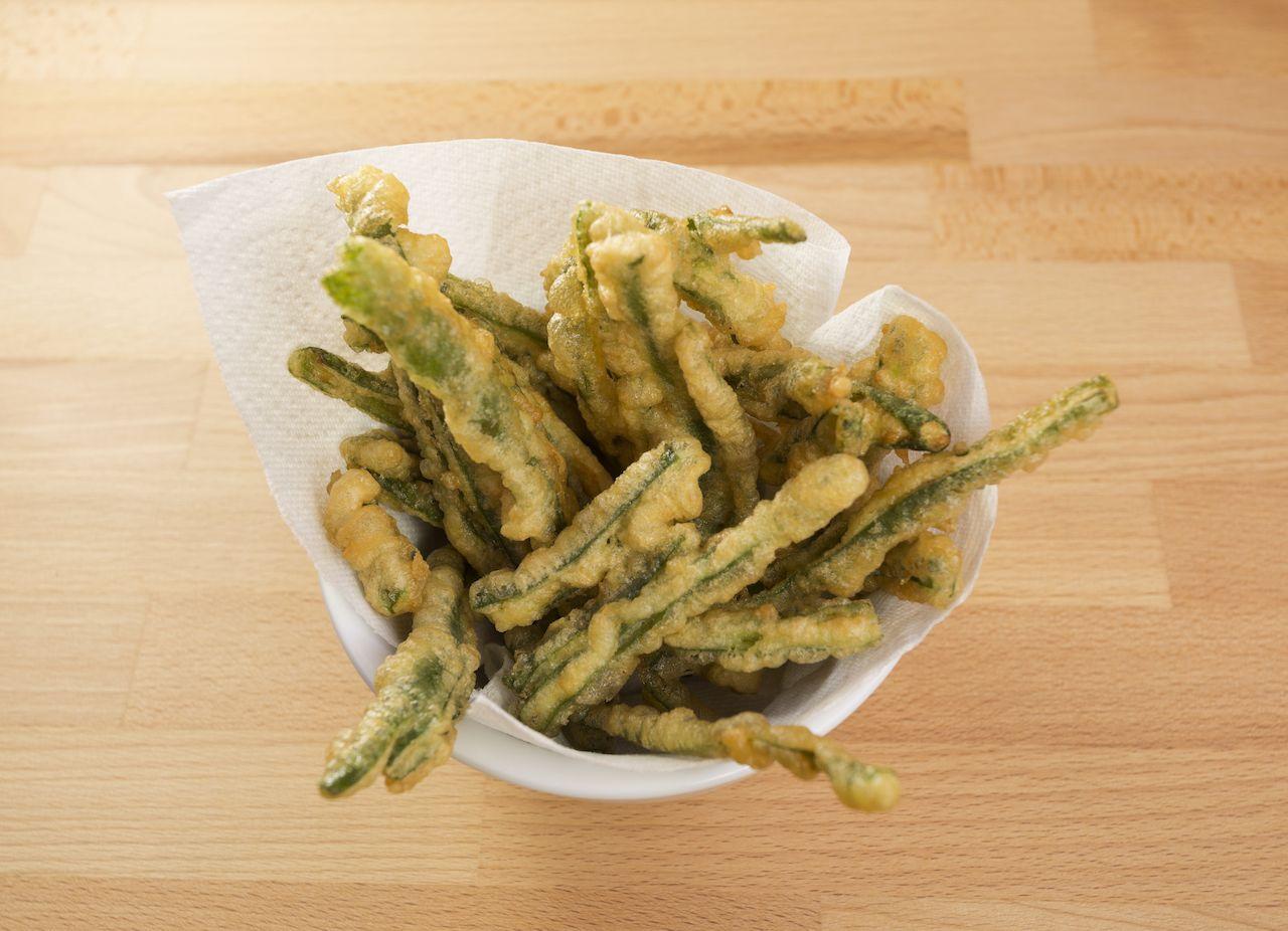 Green bean tempura