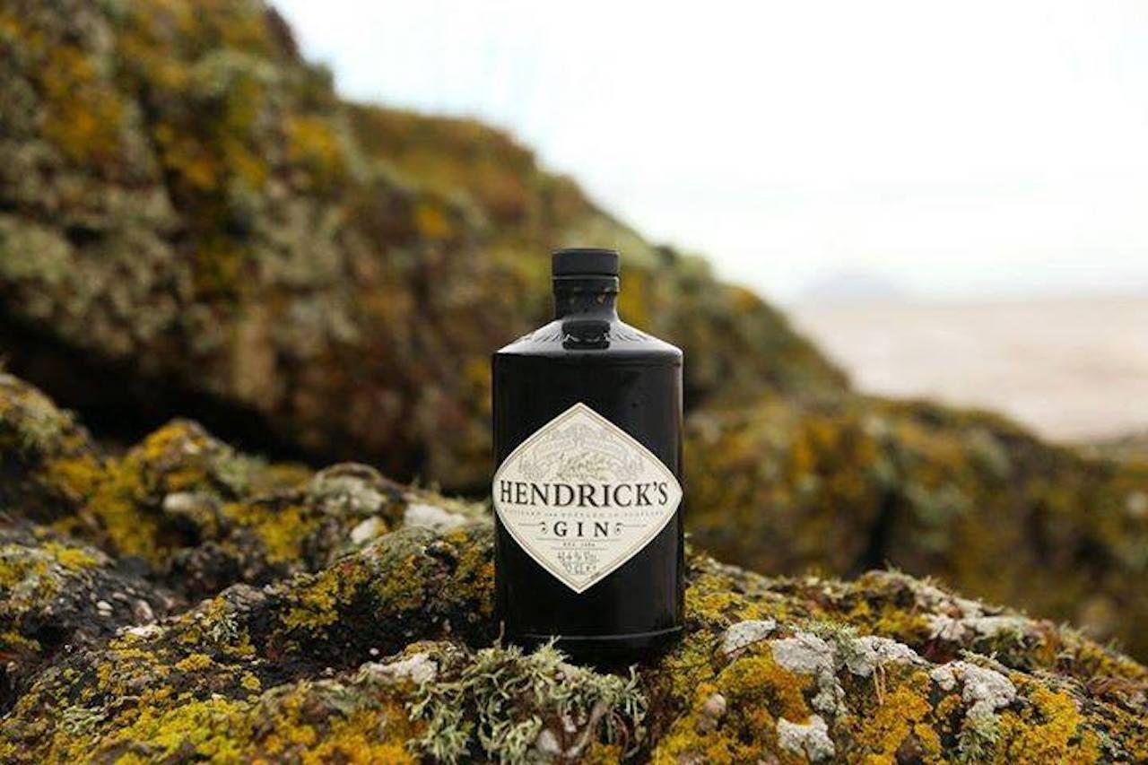 Hendrick's Gin bottle