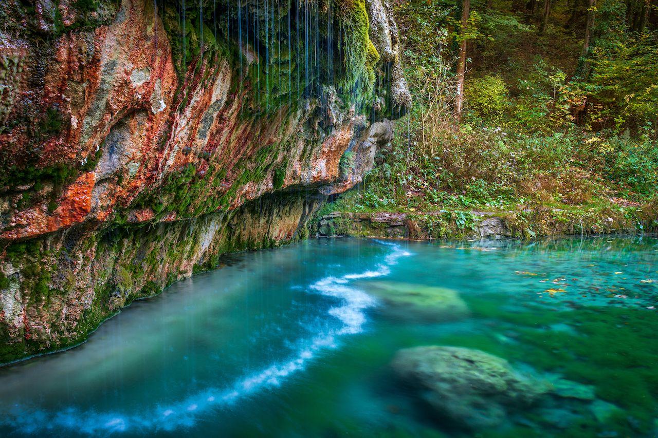 Kallektuffquell waterfall