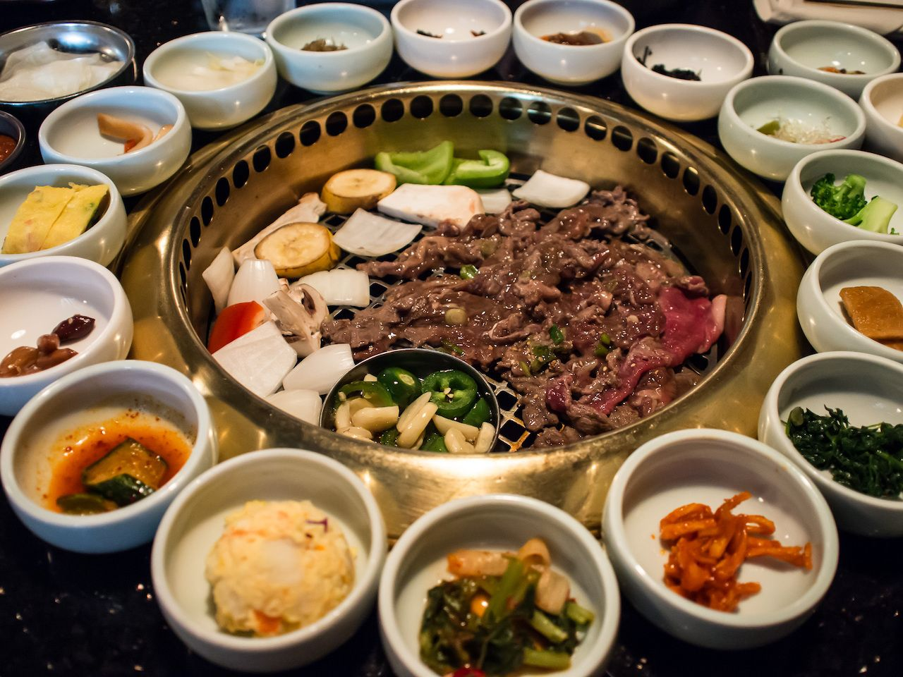 Korean BBQ with full side dishes