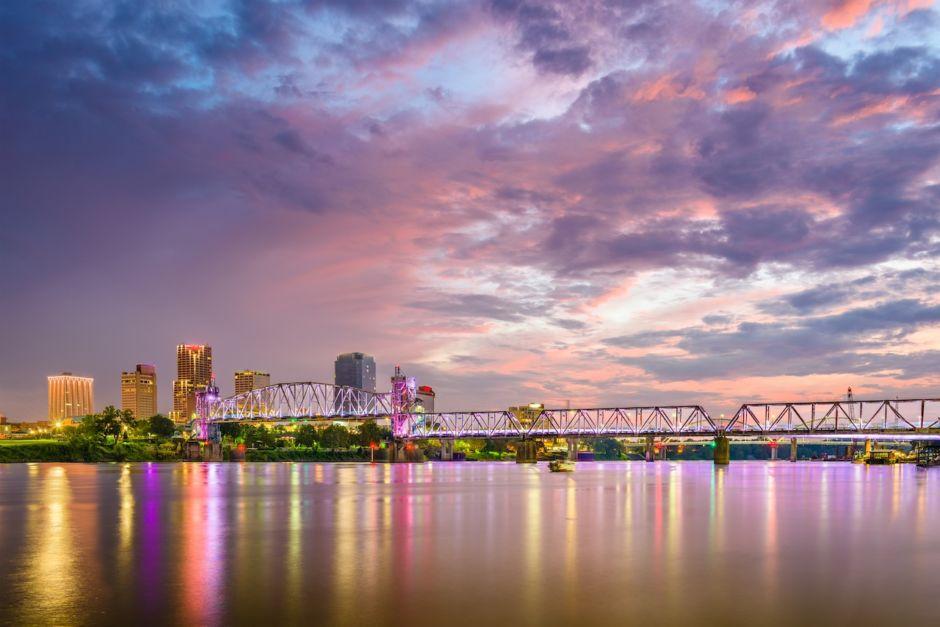 Little Rock Arkansas skyline