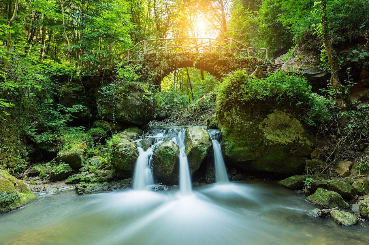 Luxemburg, Mullerthal Waterfall
