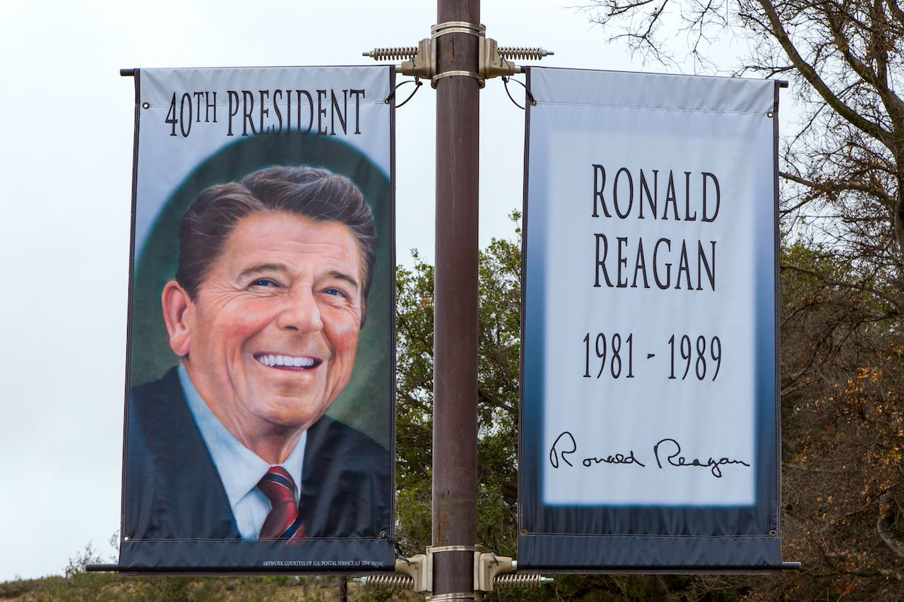 Ronald Regan sign