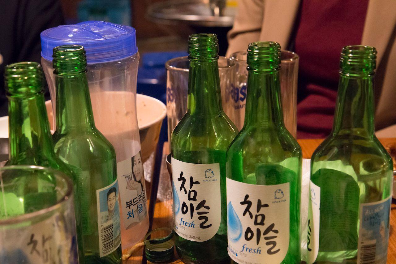 Soju bottles