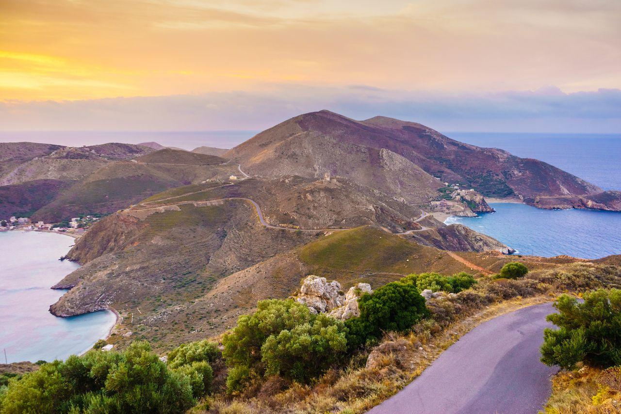 Southern Greece Mani Peninsula. Sea landscape rocky coastline, Peloponnese