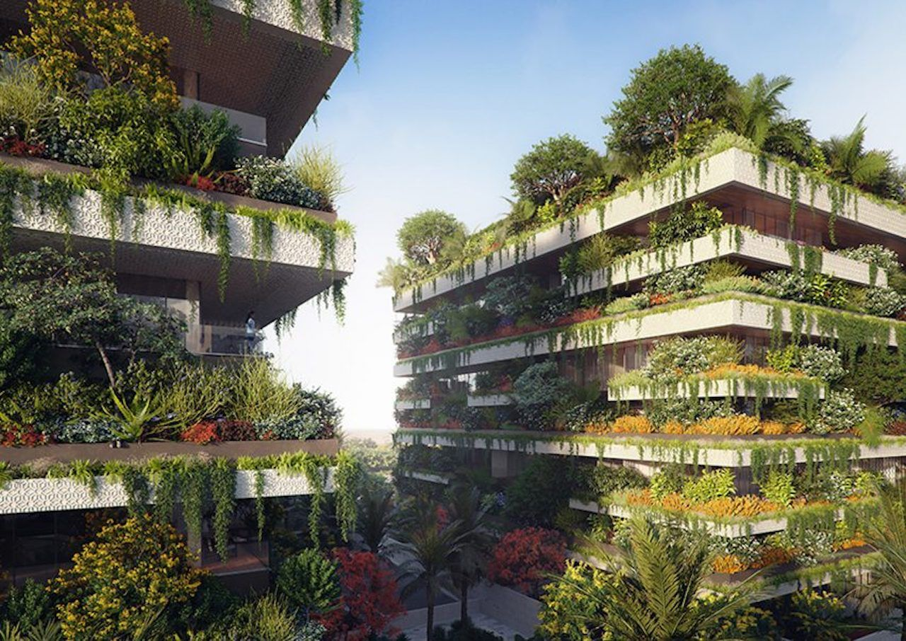 Vertical forest in Cairo, Egypt