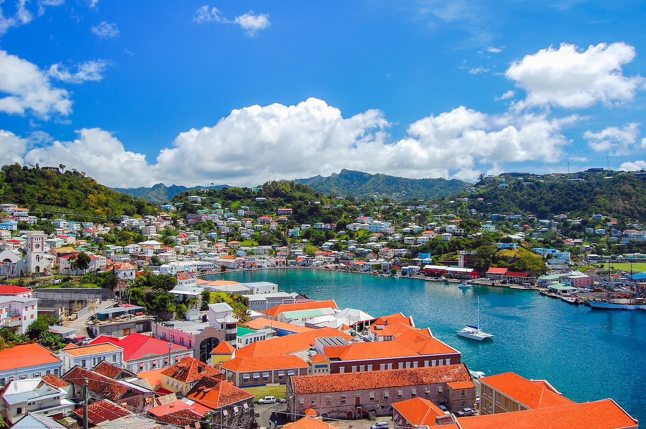 View of Saint George's town, capital of Grenada island