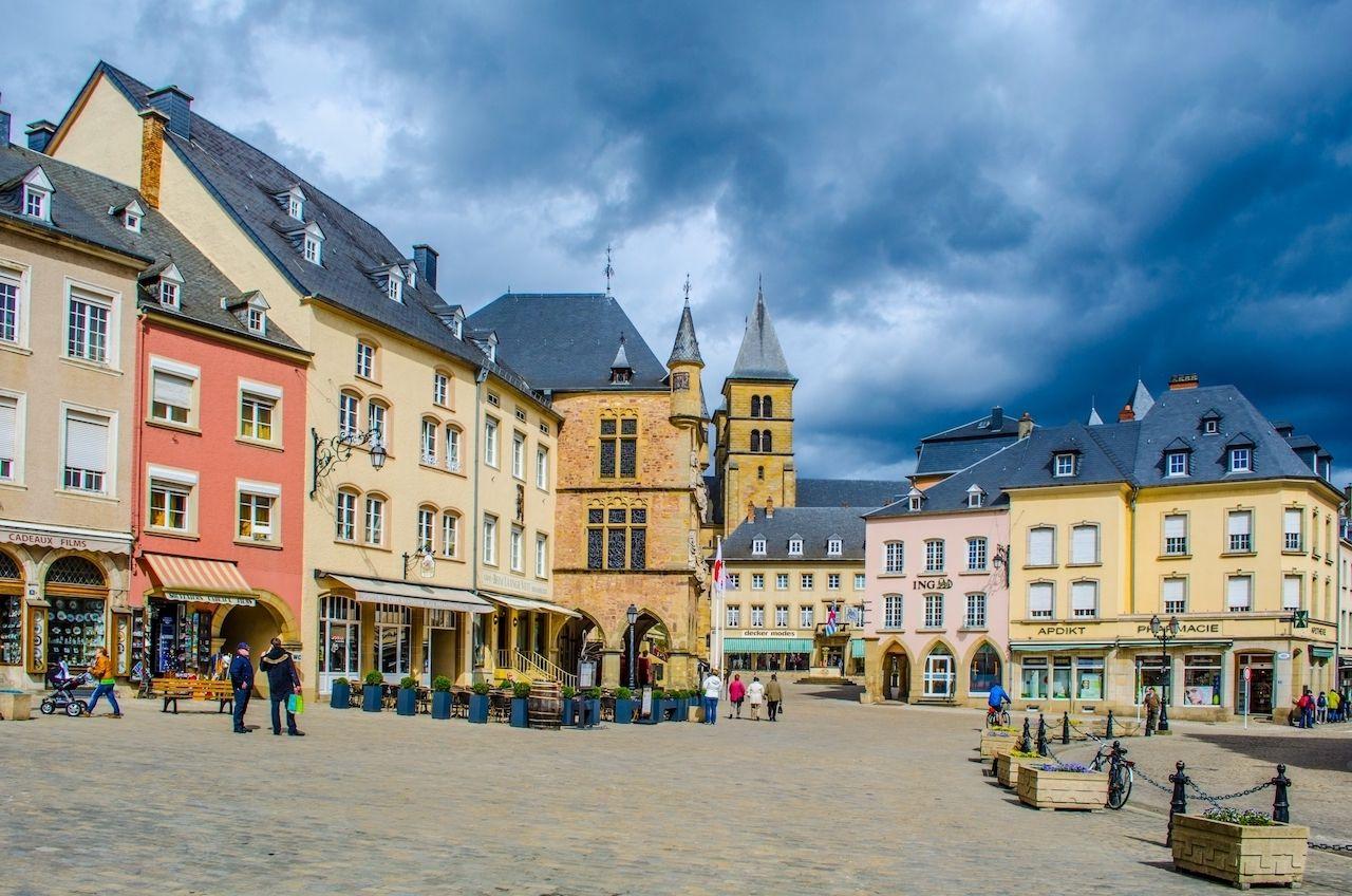 View over historical center of echternach