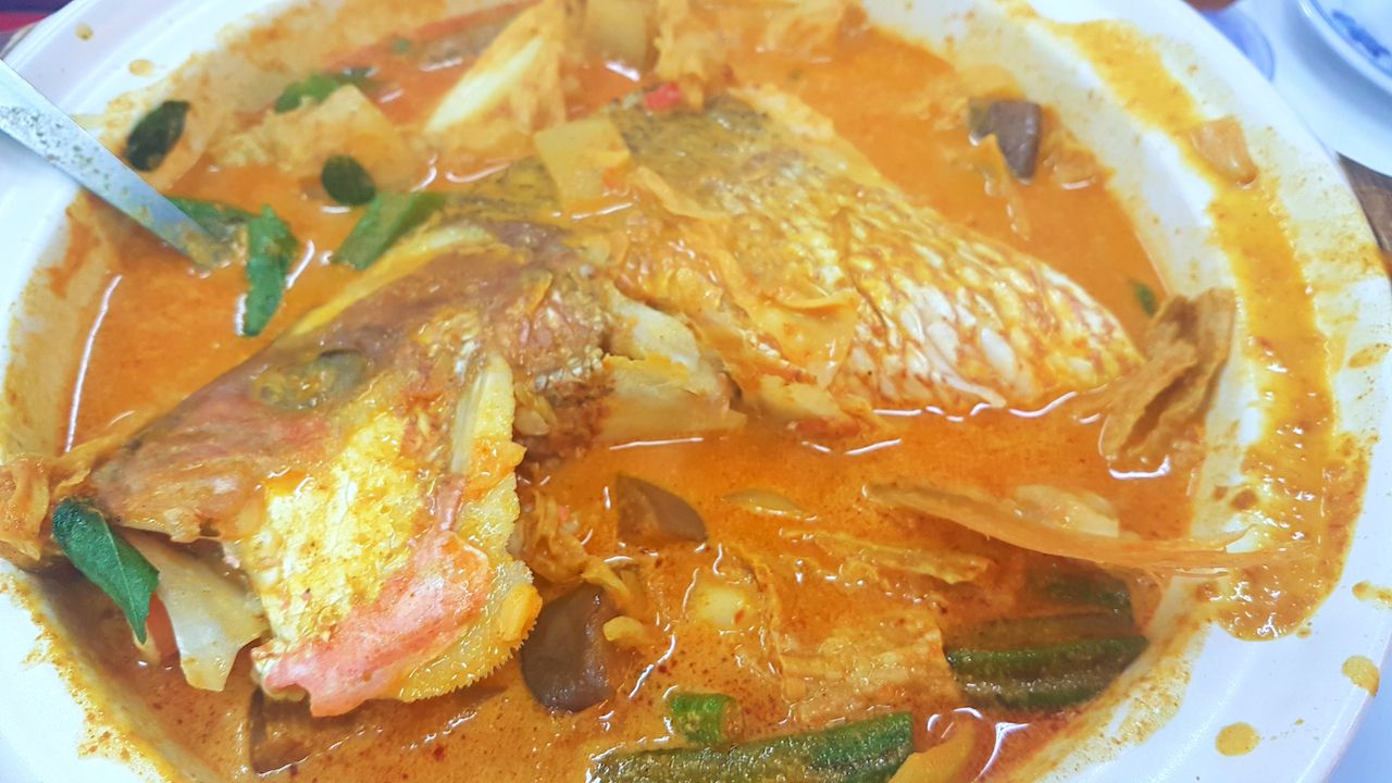 curry fish head with mixed vegetables